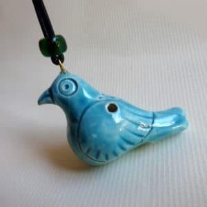 oiseau -flûte collier